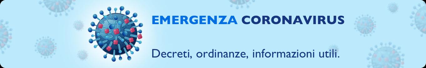 emergenza coronavirus banner