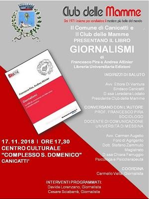 """locandina Presentazione del libro """"Giornalismi"""""""