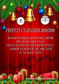 """Spettacolo Natalizio Associazione Musicale """"F. Malluzzo"""""""