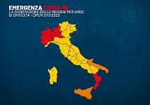 Dpcm 3 novembre 2020 - Italia divisa in aree