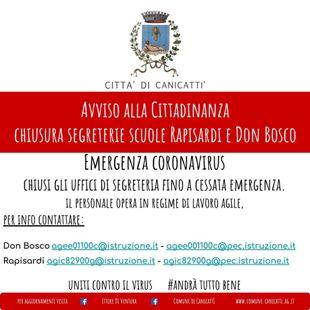 chiusura segreteria Don Bosco