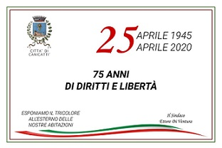 75° Anniversario della Liberazione - 25 Aprile 2020