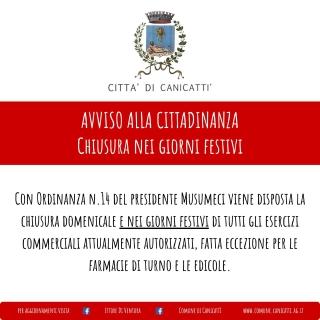 Ordinanza contingibile e urgente n. 14 Presidenza della Regione Siciliana del 3 aprile 2020
