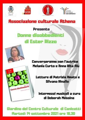 """Presentazione volume """"Donne disobbedienti"""" di Ester Rizzo"""
