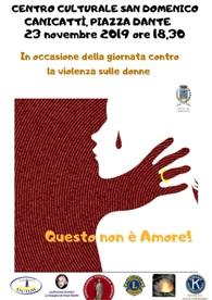 """""""Questo non è Amore"""" - Momenti di Riflessione in occasione della Giornata contro la violenza sulle Donne"""