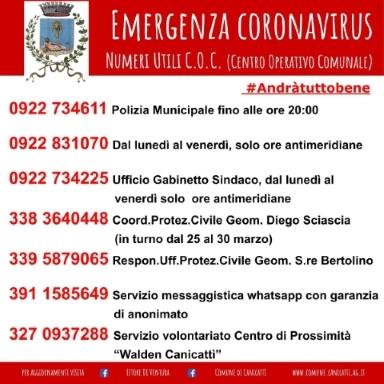 Numeri Utili Centro Operativo Comunale (C.O.C.)