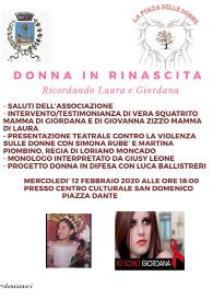 """Donna in rinascita. Ricordando Laura e Giordana"""