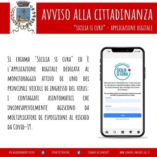 EMERGENZA CORONAVIRUS: App Sicilia Si Cura monitoraggio contagiati asintomatici