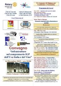 Convegno Infrastrutture nel comprensorio IGP dell'Uva Italia e del Vino