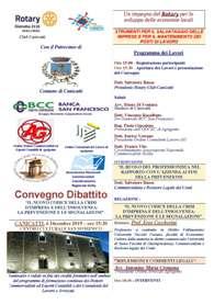 Convegno Dibattito Rotary Distretto 2110 Sicilia e Malta Club Canicattì - Crisi d'Impresa