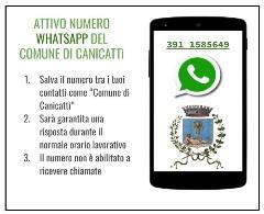 Numero Attivato il numero whatsapp del Comune 391 1585649 - Inviare messaggi per le emergenze