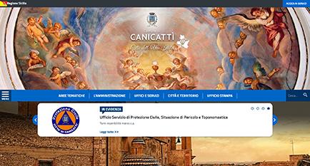 Il nuovo sito del comune di Canicattì OnLine