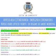 Nuovi orari Ufficio Tributi  - Emergenza Covid-19