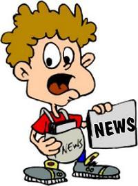 immagine bambino con giornale news in mano
