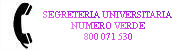 Link Segreteria Universitaria