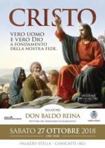 """locandina Conferenza """"Cristo, Vero Uomo e Vero Dio a fondamento della nostra fede"""""""