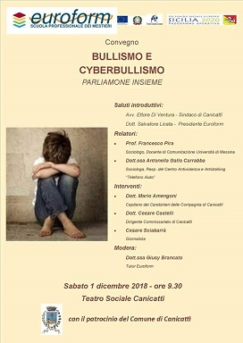 "Convegno ""Bullismo e Cyberbullismo Parliamone insieme"""
