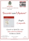 """locandina """"Incontri con l'autore"""" - Angelo Campanella"""