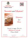 """locandina """"Incontro con l'Autore"""" - Domenico Lo Dico"""