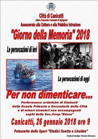 locandina Giorno della Memoria 2018