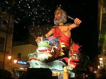 Carro Vincitore della XIV° Edizione del Carnevale Canicattinese