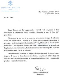 Auguri Vaticano