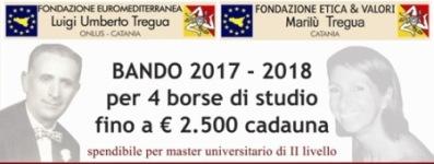 Bando 2017/2018 per n. 4 Borse di studio