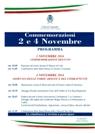 Commemorazioni del 2 e 4 Novembre 2016