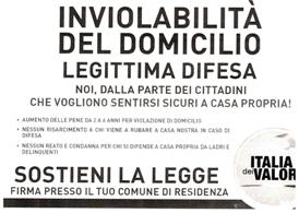 locandina Italia dei valori Racconta firme