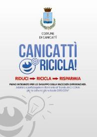 "locandina Conferenza Stampa Presentazione ""Canicattì Ricicla"""