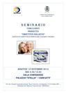 """locandina Seminario Conclusivo """"Progetto Obiettivo Sollievo"""" Servizio Assistenza Domiciliare Anziani e Disabili"""