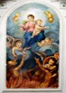 dipinto B.M.V. con anime del purgatorio
