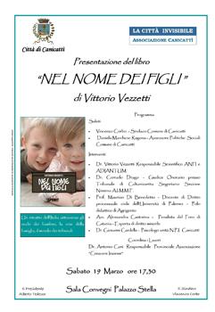 """locandina Presentazione Libro """"Nel Nome dei figli"""""""